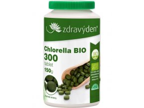 Zdravý den Chlorella BIO 300 tablet, 150g  + šťavnatá tyčinka ZDARMA