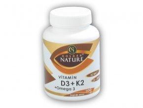Golden Natur Vitamin D3 + K2 + Omega 3 100 kapslí  + šťavnatá tyčinka ZDARMA
