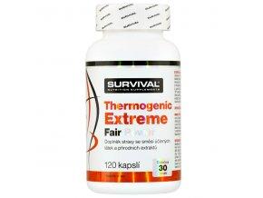 Survival Thermogenic Extreme Fair Power 120 kapslí  + šťavnatá tyčinka ZDARMA