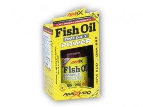 Amix Pro Series Fish Oil Omega 3 Power 60 softgels  + šťavnatá tyčinka ZDARMA