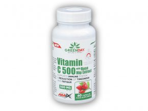 Amix GreenDay Vitamin C 500mg with RoseHip 60cps