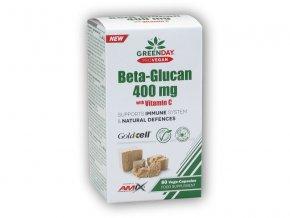 Amix GreenDay ProVEGAN Beta-Glucan 400mg+ Vitamin C 60Vcaps  + šťavnatá tyčinka ZDARMA