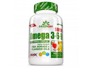 Amix GreenDay Super Omega 3-6-9 90 kapslí  + šťavnatá tyčinka ZDARMA