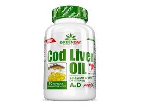 Amix GreenDay Cod Liver Oil 90 kapslí  + šťavnatá tyčinka ZDARMA
