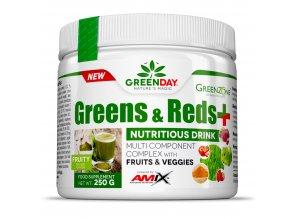 Amix GreenDay Greens and Reds+ 250g  + šťavnatá tyčinka ZDARMA