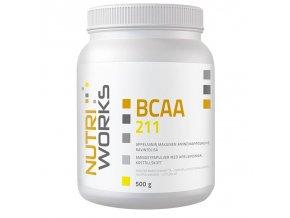 Nutri Works BCAA 2:1:1 500g + Vitamin C 200g AKCE  + šťavnatá tyčinka ZDARMA