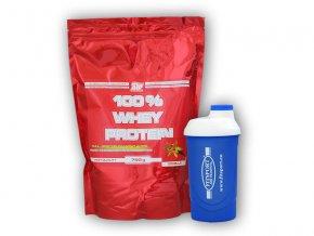 PROTEIN ATP Nutrition 100% Whey Protein 750g + šejkr Fitsport  + šťavnatá tyčinka ZDARMA