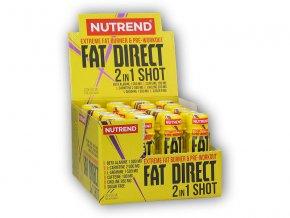 Nutrend Fat Direct 2 in 1 shot 20 ampulí  + šťavnatá tyčinka ZDARMA