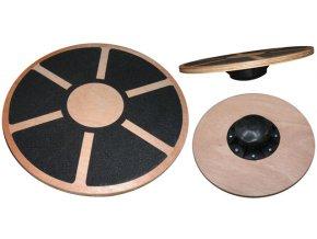 ACRA Dřevěná balanční deska CAA07  + šťavnatá tyčinka ZDARMA