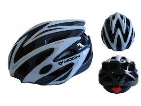 ACRA CSH29B-M bílá cyklistická helma velikost M (55/58cm) 2018  + šťavnatá tyčinka ZDARMA