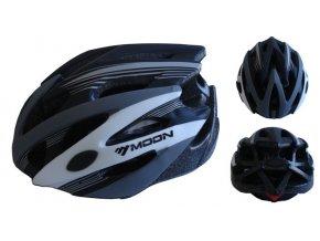 ACRA CSH29CRN-M černá cyklistická helma velikost M (55/58cm) 2018  + šťavnatá tyčinka ZDARMA