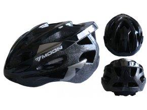 ACRA CSH30CRN-L černá cyklistická helma velikost L (58-61cm) 2018  + šťavnatá tyčinka ZDARMA