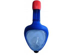 P1501S-MO Celoobličejová potápěčská maska junior - modrá  + šťavnatá tyčinka ZDARMA