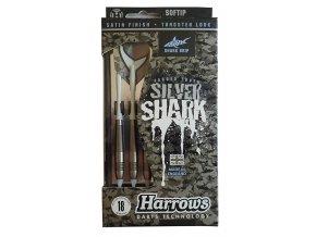 Šipky HARROWS SOFT SILVER SHARK 18g  + šťavnatá tyčinka ZDARMA