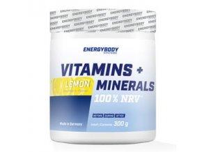 EnergyBody Vitamins + Minerals 300g lemon  + šťavnatá tyčinka ZDARMA