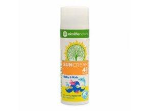 EKOLIFE NATURA Sun Cream Baby & Kids SPF45 50ml  + šťavnatá tyčinka ZDARMA