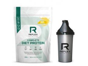Reflex Complete Diet Protein 600g + šejkr zdarma  + šťavnatá tyčinka ZDARMA