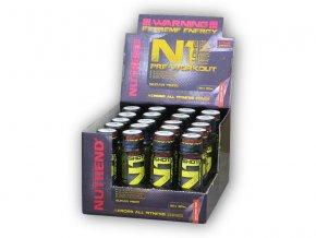 Nutrend N1 Shot 20 x 60ml orange fire  + šťavnatá tyčinka ZDARMA