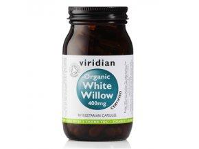 Viridian White Willow Bark 400mg 90 kapslí Organic  + šťavnatá tyčinka ZDARMA