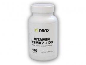 NeroDrinks Vitamin K2MK7+D3 120 kapslí  + šťavnatá tyčinka ZDARMA