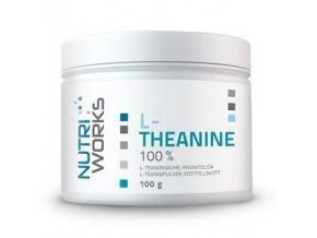 NutriWorks L-Theanine 100g  + šťavnatá tyčinka ZDARMA