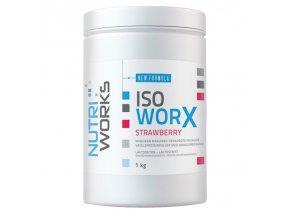 PROTEIN Nutri Works Iso Worx New Formula 1000g + Vitamin C 200g AKCE  + šťavnatá tyčinka ZDARMA