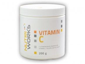 Nutri Works Vitamin C 200g AKCE  + šťavnatá tyčinka ZDARMA