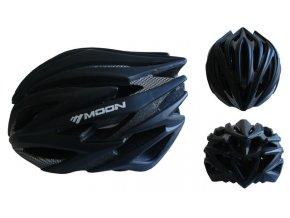 ACRA CSH98CRN-L černá cyklistická helma velikost L (58-61cm) 2018  + šťavnatá tyčinka ZDARMA