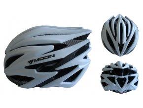 ACRA CSH98S-M stříbrná cyklistická helma velikost M (55-58 cm) 2018  + šťavnatá tyčinka ZDARMA