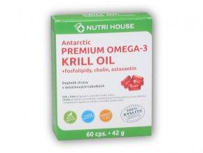 Nutri House Premium Omega-3 Krill oil 60 kapslí  + šťavnatá tyčinka ZDARMA