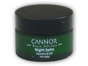 Cannor Noční antiage balzám CBD+Stoechiol 25ml  + šťavnatá tyčinka ZDARMA