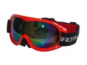 BROTHER B259-CRV Lyžařské brýle s dvojsklem,červené  + šťavnatá tyčinka ZDARMA