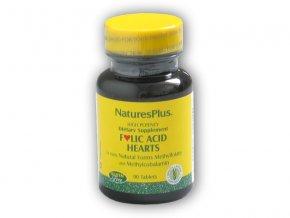 Nature's Plus Source of Life Folic Acid Hearts 90 tablet  + šťavnatá tyčinka ZDARMA