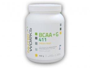 Nutri Works BCAA + Glutamin 4:1:1 500g  + šťavnatá tyčinka ZDARMA