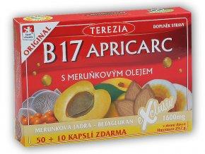 Terezia B 17 Apricarc s meruňkovým olejem 50+10 cps  + šťavnatá tyčinka ZDARMA