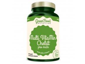 GreenFood Nutrition Multivitamin Chelát pro muže 90 vegan kapslí