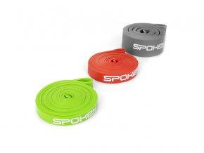 Spokey Power II set odporových gum 3ks  + šťavnatá tyčinka ZDARMA