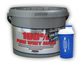 PROTEIN Mega Pro Nutrition 100% Pure Whey Maxx 4540g + šejkr  + šťavnatá tyčinka ZDARMA