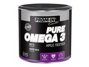 PROM-IN Pure Omega 3 240 kapslí  + šťavnatá tyčinka ZDARMA