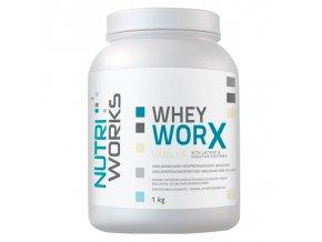 PROTEIN Nutri Works Whey Worx 1000g + Vitamin C 200g AKCE  + šťavnatá tyčinka ZDARMA