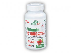 Amix GreenDay Vitamin C 1000mg with RoseHip 60cps