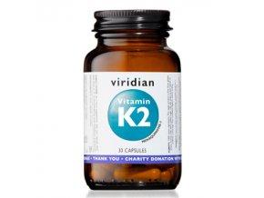 Viridian Vitamin K2 30 kapslí  + šťavnatá tyčinka ZDARMA