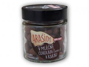 BigBoy Arašídy v mléčné čokoládě a kakau 130g