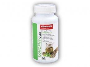 Vitaland Konopný olej s Omega 3-6-9 60cps