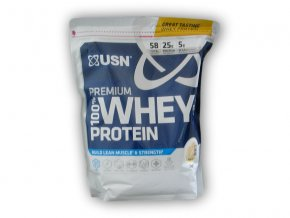 PROTEIN USN 100% Whey Protein premium BAG 2000g  + šťavnatá tyčinka ZDARMA