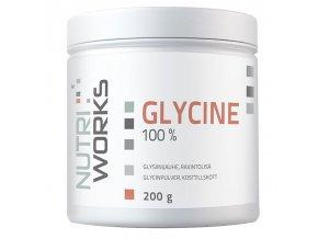 Nutri Works Glycine 100% 200g  + šťavnatá tyčinka ZDARMA