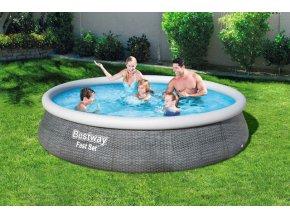 Bestway 57376 Bazén samostavěcí 396x84cm s filtrem  + šťavnatá tyčinka ZDARMA