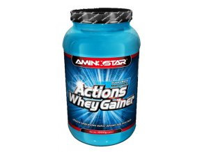 Aminostar Actions Whey Gainer 4500g  + šťavnatá tyčinka ZDARMA