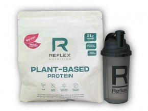 PROTEIN Reflex Nutrition Plant Based Protein 600g + šejkr 700ml  + šťavnatá tyčinka ZDARMA