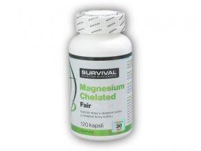 Survival Magnesium Chelated Fair Power 120 kapslí  + šťavnatá tyčinka ZDARMA